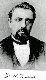 Friedreich's ataxia was first described by Nikolaus Friedreich in 1863 Image: Wikipedia