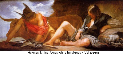 Hermes killing argos while he sleeps - velasquez