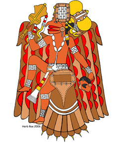 Mississippian culture falcon dancer design Image: Wikipedia - Heironymous Rowe
