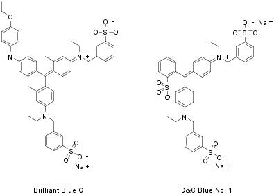 brilliant blue g fdc blue 1 structures