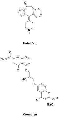 ketotifen and cromolyn structures