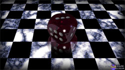 Die on Checkerboard