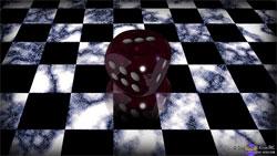 Die on Checkerboard