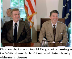 Charlton Heston and Ronald Reagan