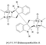 (+)-11,11'-dideoxyverticillin A structure